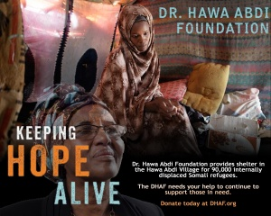 Donate to the Dr. Hawa Abdi Foundation to benefit those suffering in Somalia